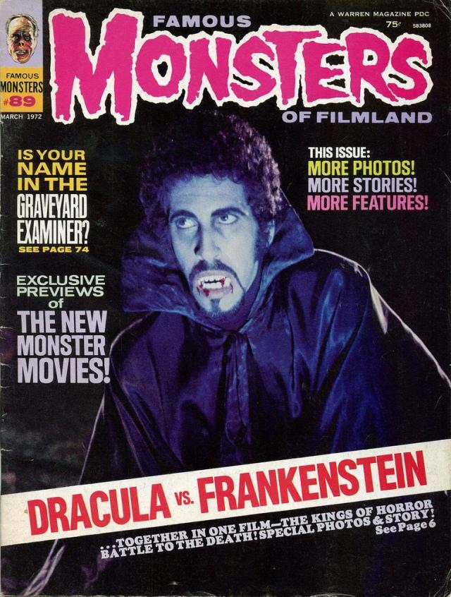 FAMOUS MONSTERS OF FILMLAND DRACULA VS. FRANKENSTEIN