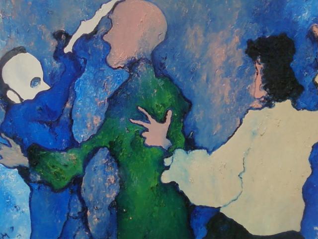 Healing Service oil on canvas ©1997 Alfred Eaker