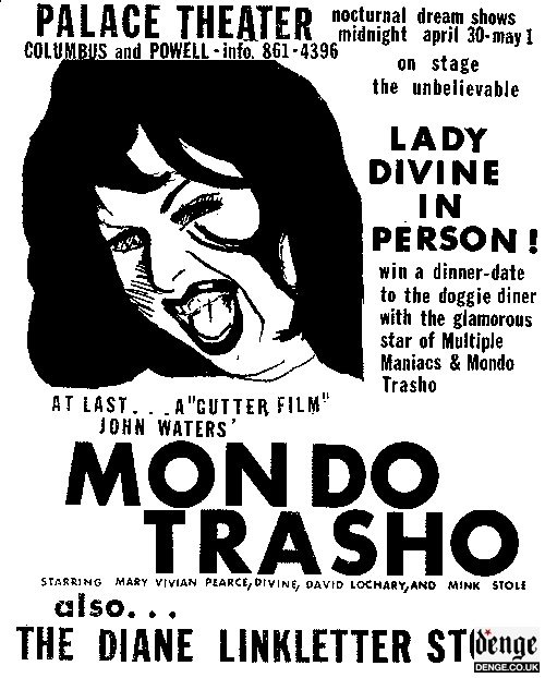 Movie Cinema Poster Art Divine EAT YOUR MAKEUP 1968 John Waters