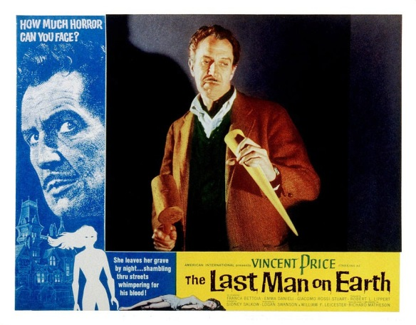 THE LAST MAN ON EARTH Vincent Price. lobby card