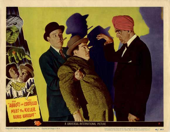 Abbott and Costello Meet The Killer Boris Karloff lobby card