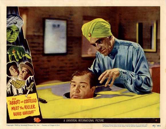 Abbott and Costello Meet The Killer Boris Karloff lobby card
