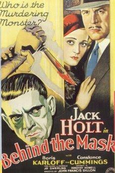 Behind The Mask 1932 lobby card Karloff