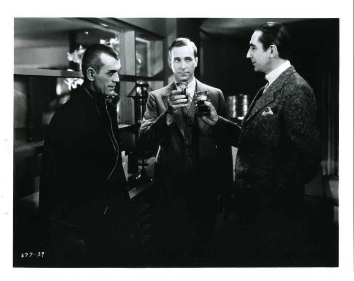Boris, Bela and David Manners in %22The Black Cat%22 (1934