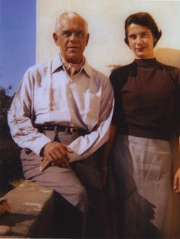 Boris Karloff and daughter Sara
