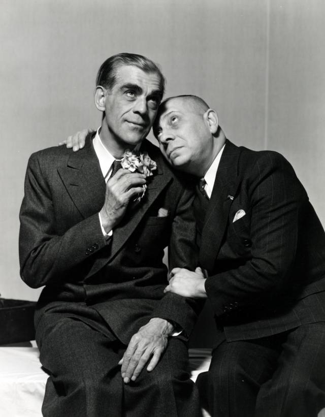 BORIS KARLOFF AND ERICH VON STROHEIM ARSENIC AND OLD LACE