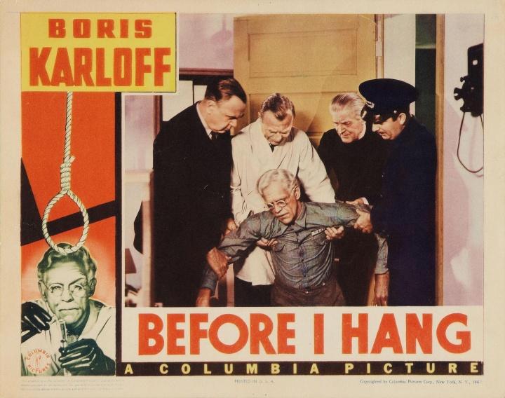 Boris Karloff Before I Hang lobby card