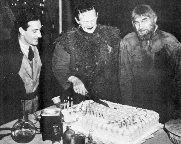 Boris Karloff birthday with Basil Rathbone and Bela Lugosi