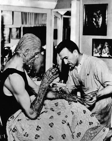 BORIS KARLOFF JACK PIERCE THE MUMMY