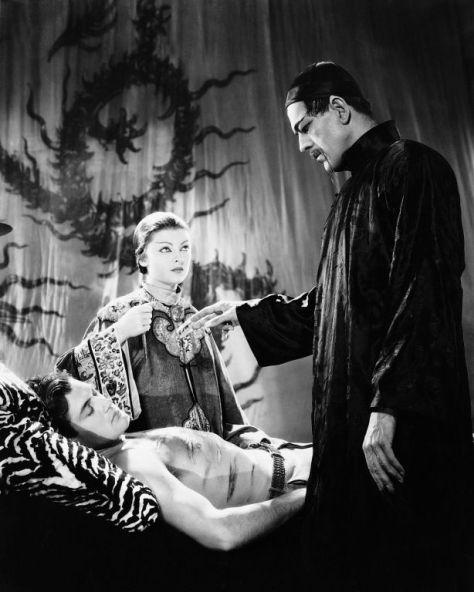 Boris Karloff Myrna Loy %22The Mask of Fu Manchu%22