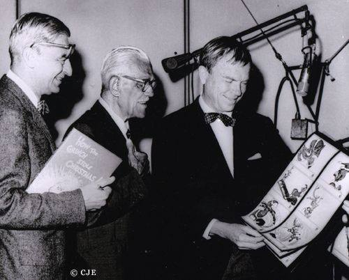 Boris Karloff with Chuck Jones How The Grinch Stole Christmas