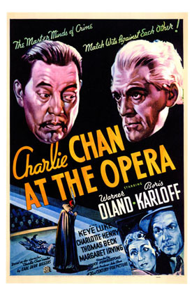 Charlie Chan at the Opera theatrical poster