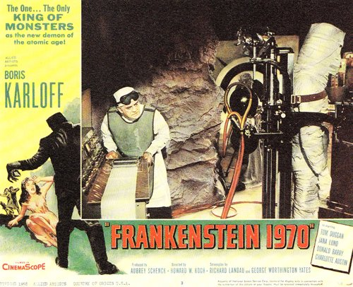 Frankenstein 1970 lobby card Karloff