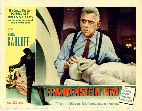Frankenstein 1970 lobby card