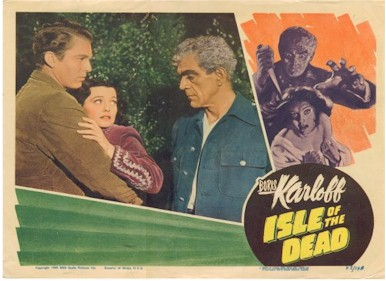 ISLE OF THE DEAD LOBBY CARD Boris Karloff