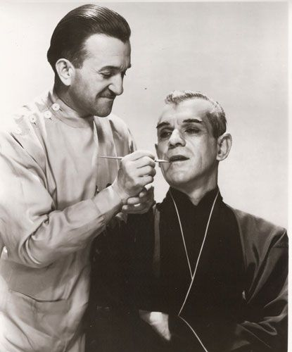 JACK PIERCE AND KARLOFF THE BLACK CAT