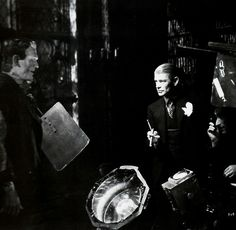 JAMES WHALE DIRECTING BORIS KARLOFF