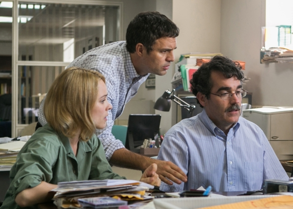 SPOTLIGHT (2015) Rachel McAdams, Mark Ruffalo, and Brian d' Arcy James