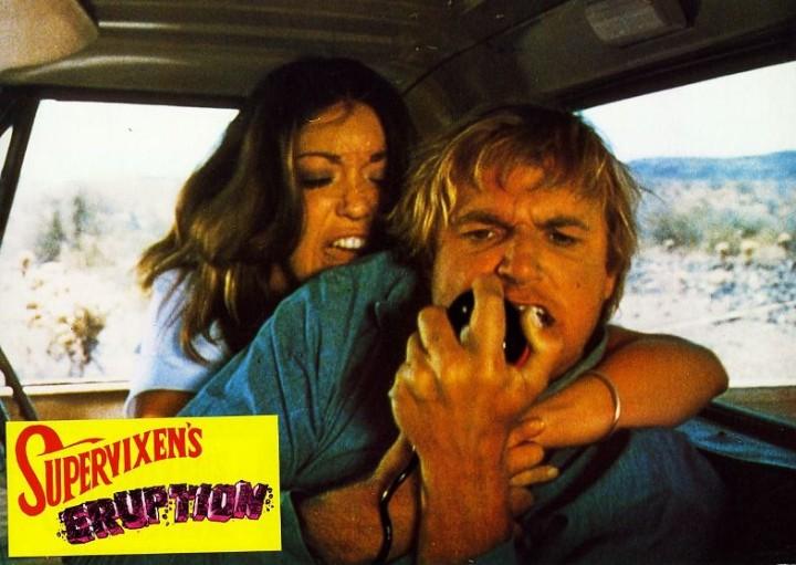 Supervixens (Russ Meyer) lobby card. Charles Napier