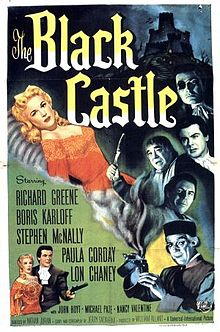 The Black Castle poster Karloff Chaney