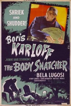 THE BODY SNATCHER poster Karloff Lugosi Daniell