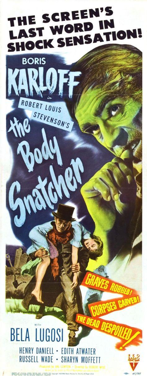 THE BODY SNATCHER poster Karloff Lugosi Daniell