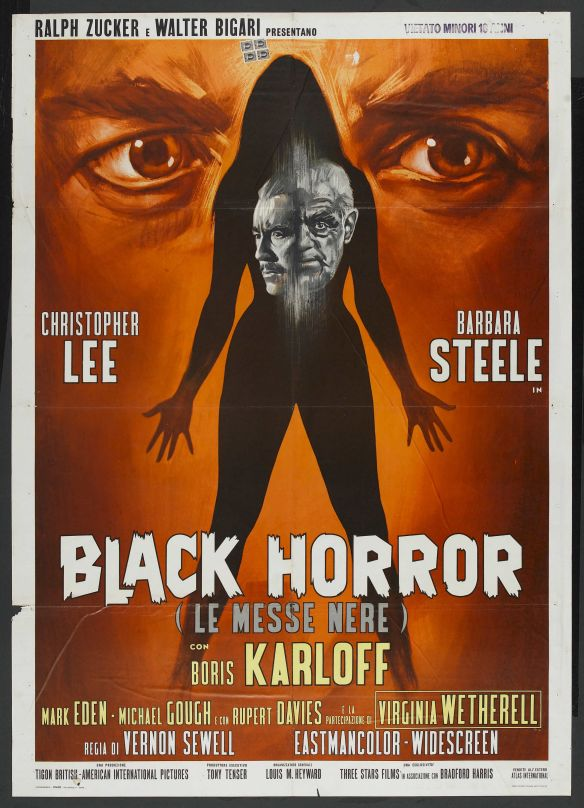 The CRIMSON CULT Boris Karloff Christopher Lee Barbara Steele poster