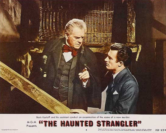 The Haunted Strangler lobby card Karloff