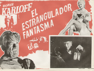 The Haunted Strangler lobby card Karloff