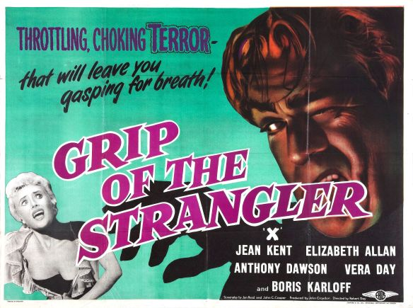 The Haunted Strangler theatrical poster Karloff