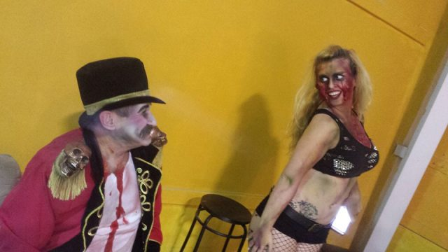 The House Of Shadows (Jim, The Ringmaster and go go demon Holly) ©2015 Alfred Eaker