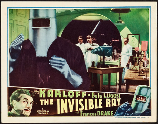 THE INVISIBLE RAY LOBBY CARD KARLOFF LUGOSI