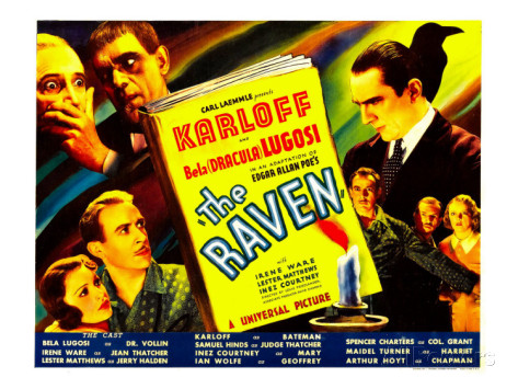 The Raven lobby card Lugosi Karloff