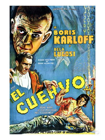 The Raven theatrical poster Lugosi Karloff
