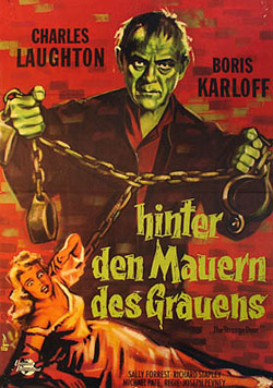 THE STRANGE DOOR theatrical poster Laughton Karloff
