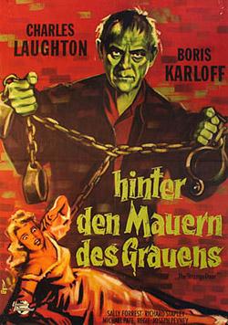 THE STRANGE DOOR theatrical poster Laughton Karloff
