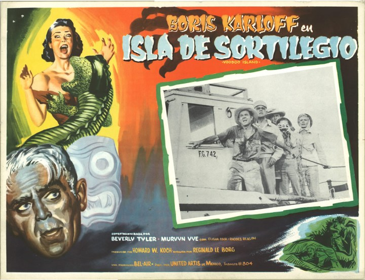 Voodoo Island lobby card (Boris Karloff)