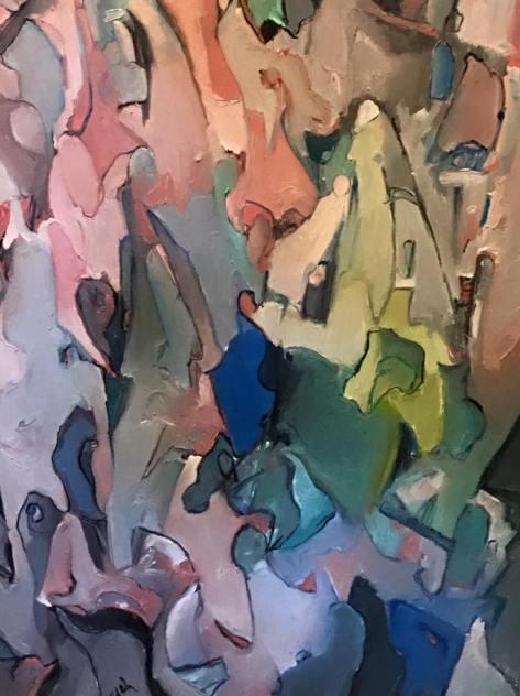 %22Dissonant Grace (detail).%22 © 2015 Alfred Eaker. Oil on canvas