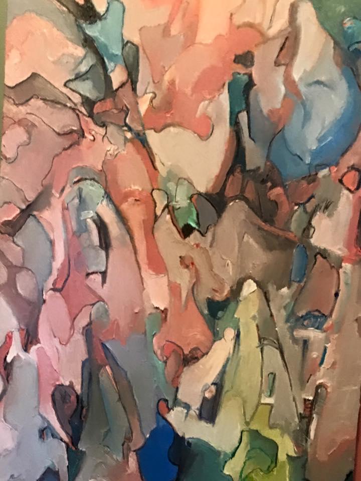 %22Dissonant Grace (detail).%22 © 2015 Alfred Eaker. Oil on canvas.