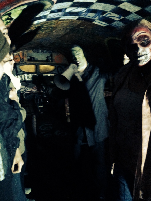 Brother Cobweb and Frogg. House of Shadows, Bus to perdition. Gresham, Oregon © 2015 Alfred Eaker