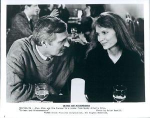 Crimes And Misdemeanors (1989 Woody Allen) Alan Alda, Mia Farrow