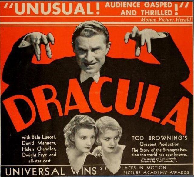 Dracula (1931 Tod Browning) Bela Lugois, Helen Chandler