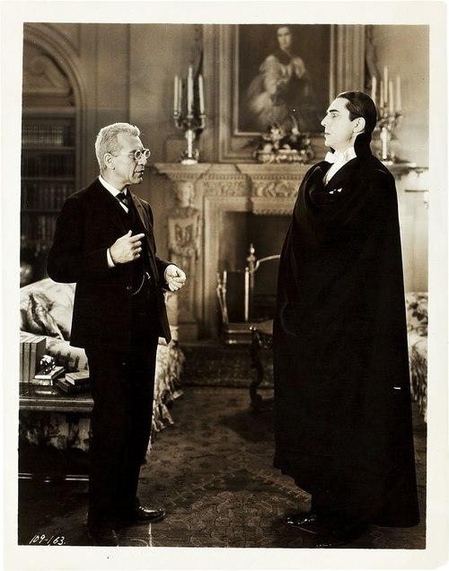 Dracula (1931 Tod Browning) Edward Van Sloan, Bela Lugosi publicity still