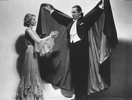 Dracula (1931 Tod Browning) Helen Chandler, Bela Lugosi, publicity still