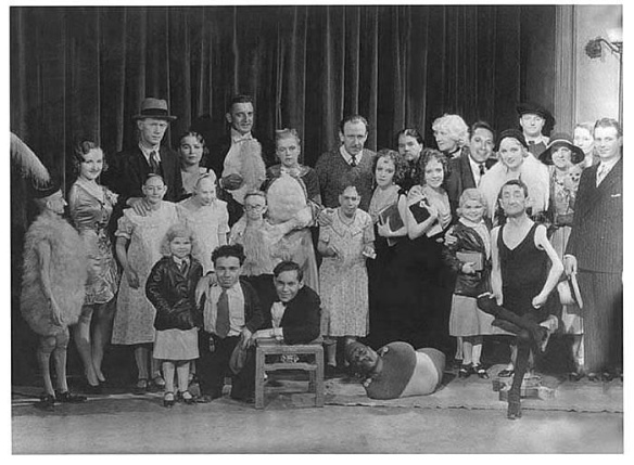 Freaks (1932 Tod Browning) Browning with cast publicity still