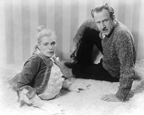 Freaks (1932 Tod Browning) Browning with Olga Baclanova publicity still