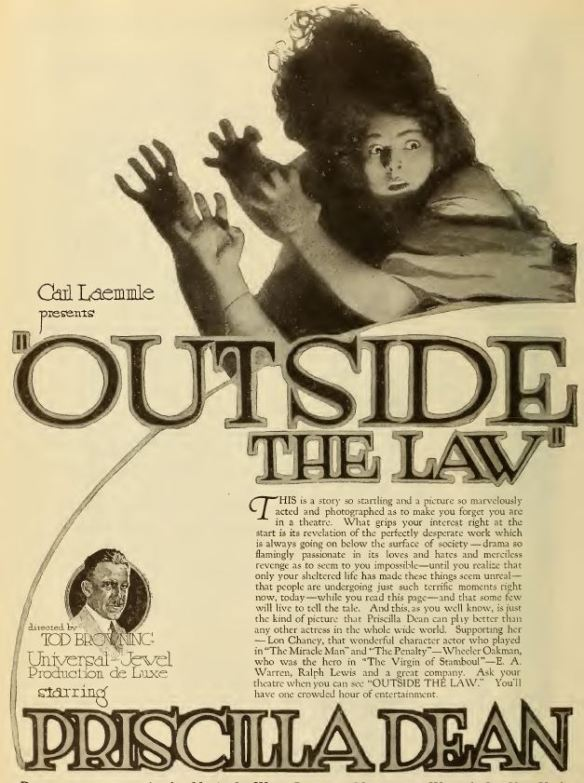 Outside The Law (Tod Browning) Priscilla Dean