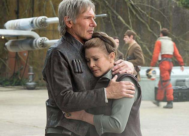 Star Wars-THE FORCE AWAKENS (2015 Abrams) Harrison Ford, Carrie Fisher