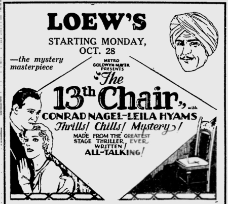 The Thirteenth Chair (Tod Browning)