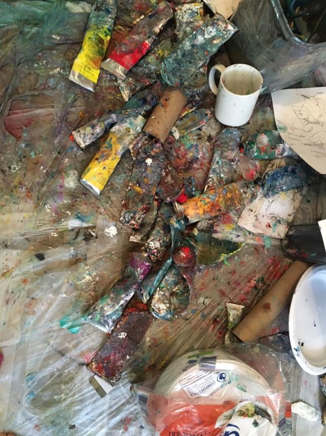 Alfred Eaker paint floor